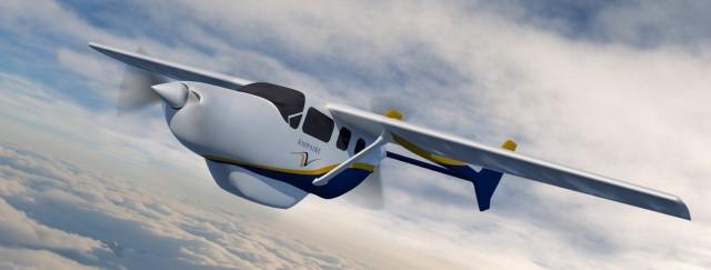 암페어가 환경적으로 청정하고 안전하며 조용하고 운항 비용이 저렴한 전기 추진 항공기를 개발하고 있다