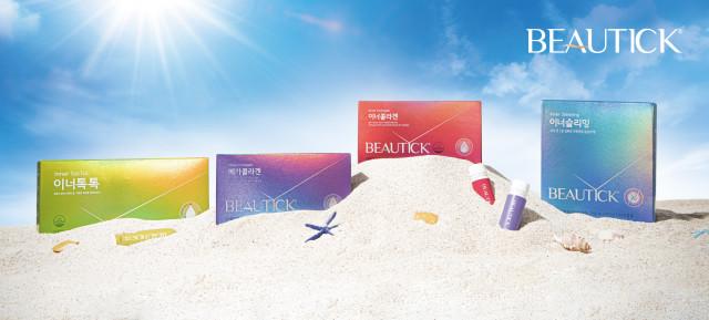 동원F&B가 3050 여성들을 위한 이너뷰티 건강기능식품 브랜드 뷰틱을 론칭하고 신제품 4종을 출시했다