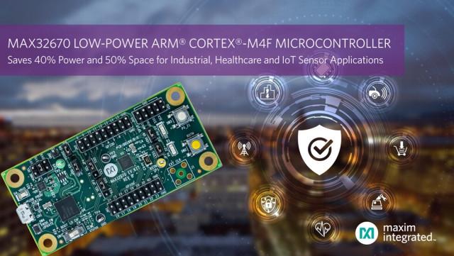 맥심 인터그레이티드가 ARM 코텍스-M4 마이크로컨트롤러 MAX32670을 출시했다