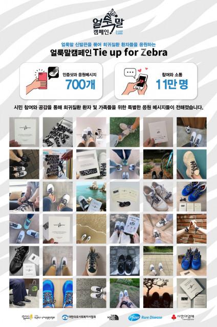 한국화이자제약의 얼룩말 캠페인 TIE UP FOR ZEBRA가 성황리에 종료했다