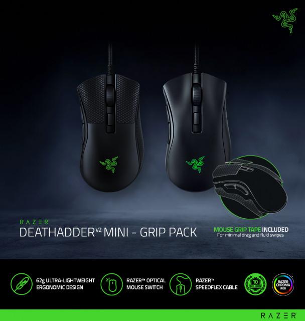 레이저가 더 작고 가벼워진 데스에더 게이밍 마우스 에디션 Razer DeathAdder V2 Mini – Grip Pack을 공식 출시했다