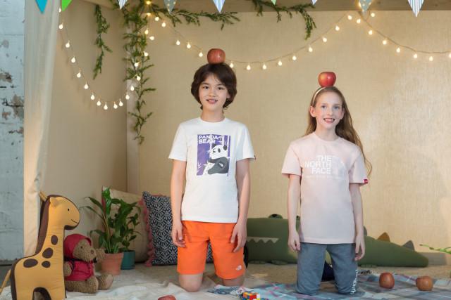 노스페이스가 2020 키즈 서머 컬렉션을 출시했다