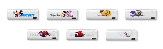 삼성전자가 무풍 에어컨 디즈니 컬렉션을 출시했다