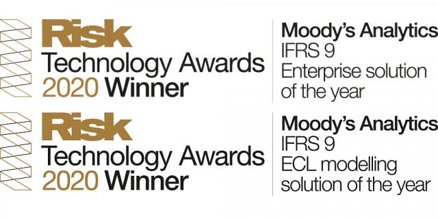 무디스 애널리틱스가 리스크 테크놀로지 어워드와 IFRS 9 부문 상을 2년 연속 받았다