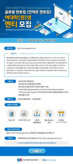 △ WISET-Dell Technologies 글로벌 멘토링 멘티 모집 포스터