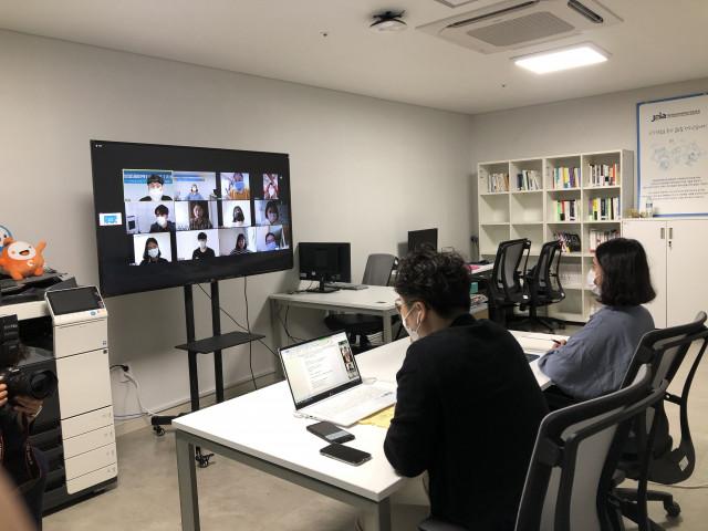 전남글로벌게임센터 서포터즈 1기 발대식이 코로나19 예방 차원에서 온라인 비대면으로 진행됐다