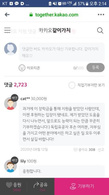 흥사단 독립유공자후손돕기본부의 장학사업 모금 활동