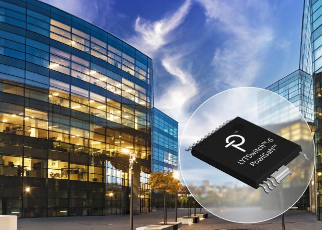 파워 인테그레이션스가 소형 스마트 조명 설계를 겨냥한 고효율 GaN으로 구동되는 LYTSwitch-6 LED 드라이버를 출시한다