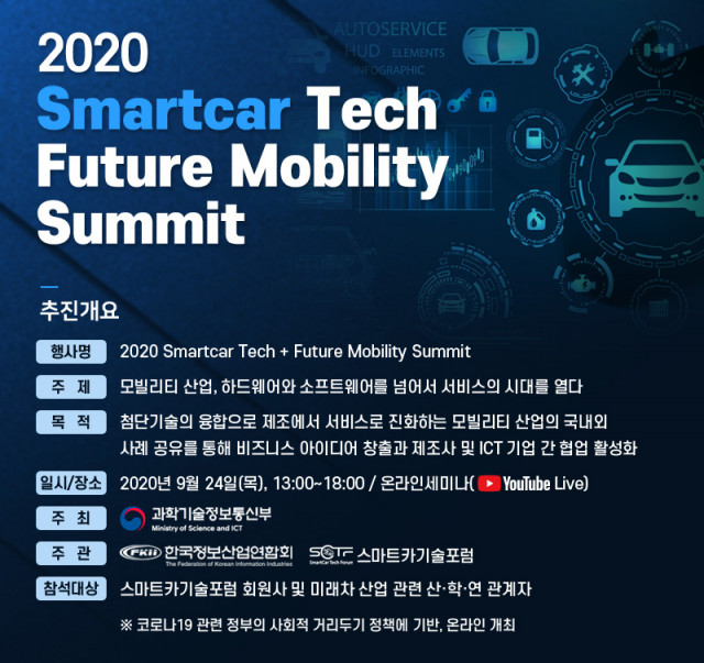 2020 SmartCar Tech + Future Mobility Summit 행사 개요