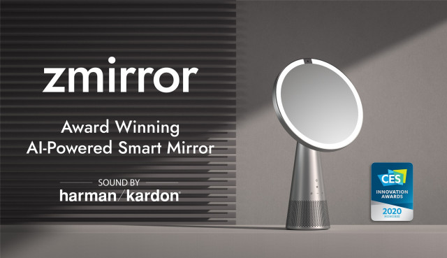 ICON.AI debuts Zmirror in partnership with Harman Kardon. Zmirror is a powerful smart mirror with a fully integrated display speaker.