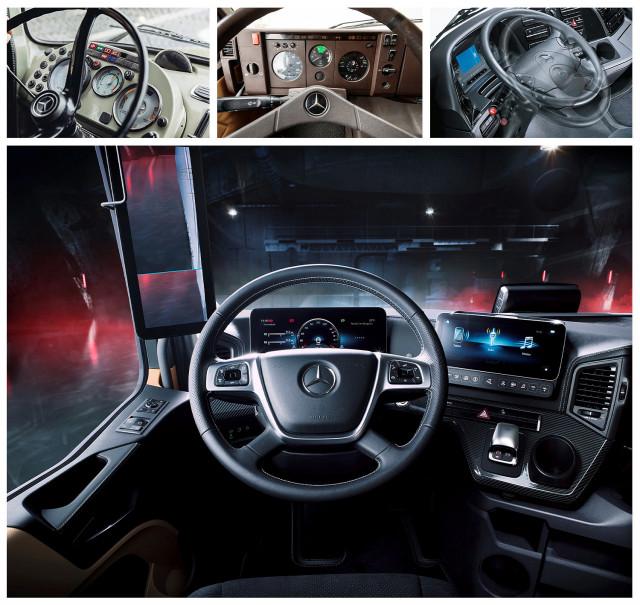 메르세데스-벤츠 트럭, 60여년 혁신을 거듭해온 트럭 운전 공간의 변화