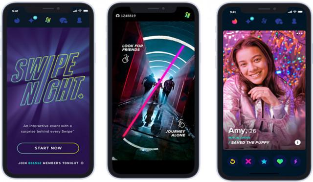 글로벌 소셜 디스커버리 앱 틴더가 공개하는 스와이프 나이트(Swipe Night)