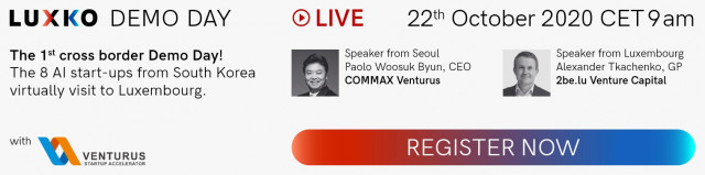 COMMAX Venturus, an IT and Smart Home based Accelerator, is holding a Demo Day on October 22nd. This year, it hopes to continue the spirit with LUXKO. The event is going to be held online in efforts to reach a bigger audience globally