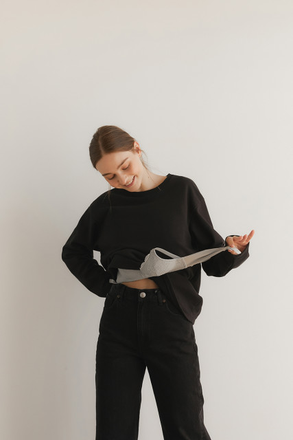 LAiKiN F/W 'Soft NO-BRA T shirt'