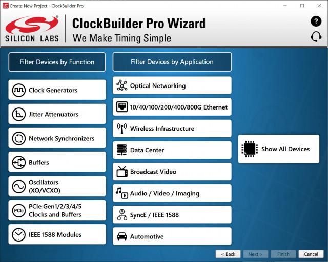 실리콘랩스(Silicon Labs) ClockBuilder Pro