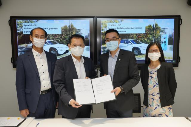 현대차그룹이 싱가포르 최대 충전사업자 SP그룹과 사업 협약을 체결했다