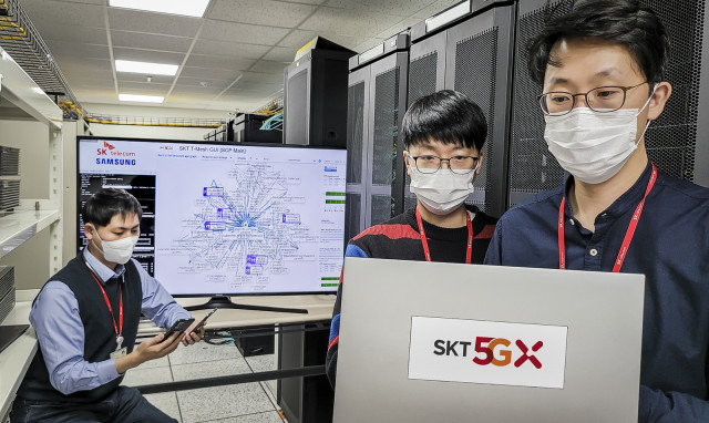 SK텔레콤이 삼성전자와 함께 세계 최초로 차세대 클라우드 코어망 기술을 개발했다