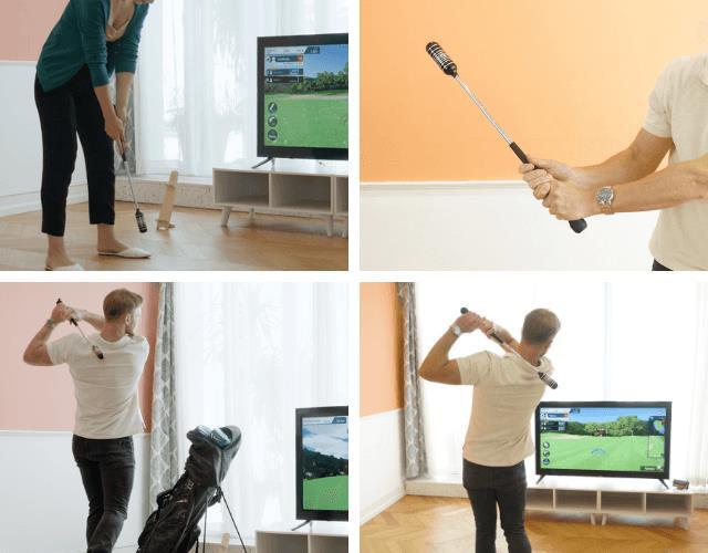 스윙 모션 센서와 연습봉을 하나로 만든 아이굳의 스윙 연습기