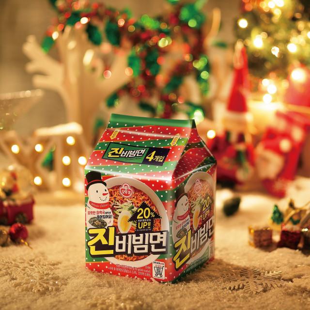 진비빔면 크리스마스 한정판