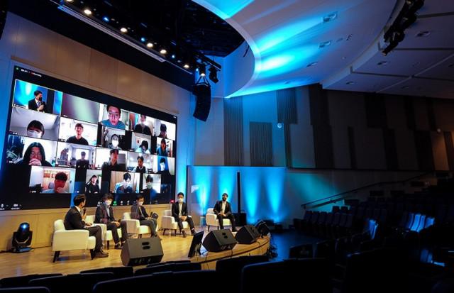 건국대학가 '2020 KU 스타트업 YOUNG CEO 포럼'을 학생회관 PRIME HALL 실황 중계로 진행했다