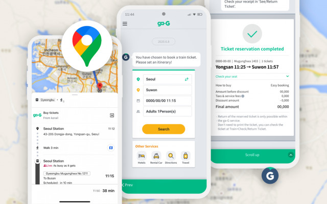 Ntuple launched the Korea railroad ticketing service ga-G in Google maps. ga-G is a smart transportation chatbot service operated by Ntuple with Korail