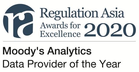 무디스 애널리틱스가 2020 레귤레이션 아시아 어워드 올해의 데이터 공급업체로 선정되었다
