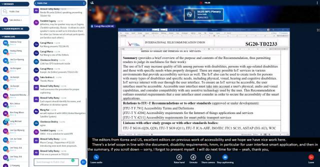 2021년 제1차 ITU-T SG20 온라인 총회