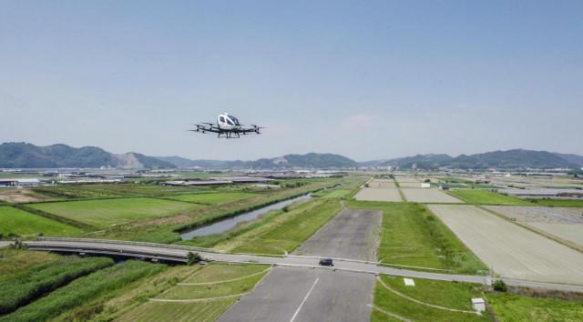 중국 이항사의 에어 택시 EH216이 일본에서 성공적으로 처녀비행을 마쳤다