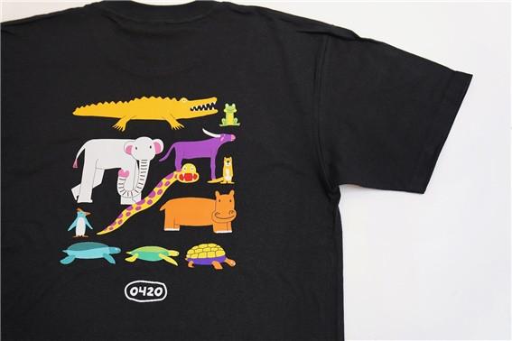발달장애인 예술가 짜욱작가의 멸종위기동물 티셔츠