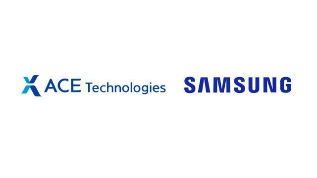 에이스테크놀로지와 삼성전자 로고