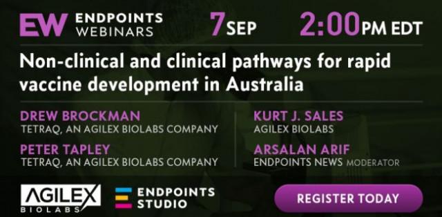 애질렉스 바이오랩스가 호주 내 신속한 백신 개발 관련 첫 웹세미나를 위해 엔드포인트 뉴스와 파트너십을 체결했다
