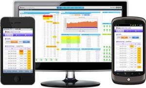 서버 통합 모니터링 시스템의 PC 및 스마트폰 사용자 화면. (사진제공: 마루인터넷)