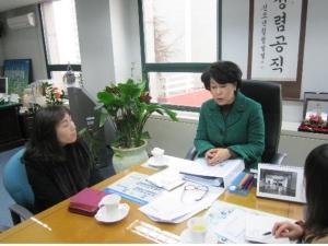 공공보건기관 현장방문 모습 (사진제공: 한국보건복지인력개발원)