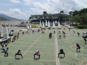 지난 2011년도 요트국가대표 후보팀 합숙훈련 현장 모습 (사진제공: 세정)