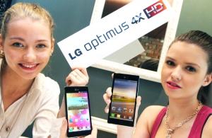 LG전자가 쿼드코어 스마트폰 '옵티머스(Optimus) 4X HD'를 27일 스페인 바르셀로나에서 열리는'모바일 월드 콩그레스(Mobile World Congress) 2012'에서 처음으로 선보인다. (사진제공: LG전자)