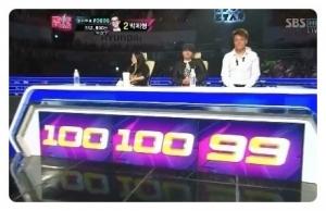 KPOP스타, 박지민의 299점 (사진제공: 마이구루)