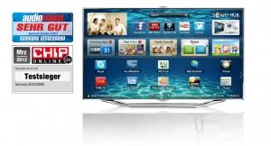 삼성전자가 올해 출시한 스마트TV ES8000 시리즈 (사진제공: 삼성전자)