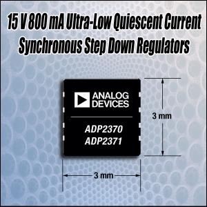 아나로그디바이스, ADP2370/71 15V, 800mA 출력 DC-DC 레귤레이터 (사진제공: 아나로그디바이스)