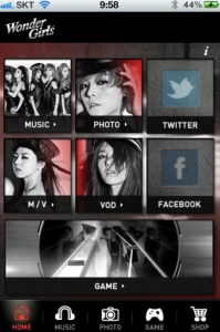 SBS콘텐츠허브(대표이사 홍성철 www.sbs.co.kr)는 원더걸스 2집 어플리케이션(Application. 이하, 앱) 'Wonder Girls'를 출시했다고 전했다. (사진제공: SBS콘텐츠허브)