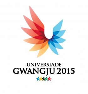 도전 열정 화합 상징하는 2015 하계유니버시아드 엠블럼 '빛의 날개' (사진제공: 광주광역시청)