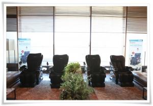 세라지오CC 클럽하우스에 설치된 휴테크 크로체 안마의자 (사진제공: 휴테크산업)