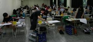 동명대학교가 5일 전국의 고교생 900여명이 참가하는 디자인미술 실기대회를 화창한 날씨속에 성공적으로 치렀다. (사진제공: 동명대학교)