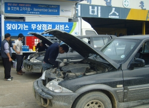 쌍용자동차가 7일(월)부터 12일(토)까지 지리적 여건으로 인해 평소 정비서비스를 받기 어려운 도서지역 고객을 위해 '2012 상반기 도서지역 무상점검 서비스'를 실시한다. (사진제공: 쌍용자동차)