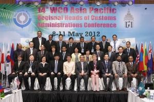 제14차 WCO 아시아·태평양 관세청장회의 개최. 주영섭청장 2열 우측부터 세번째. (사진제공: 관세청)