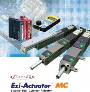 이지엑추에이터 MC는 고정도 Lead Screw를 탑재한 정밀 Mini Cylinder에 고속, 고정도 폐루프 스텝핑 모터 제어 시스템인 Ezi-Servo를 결합한 고성능의 전동 Cylinder Actuator입니다. (사진제공: 파스텍)