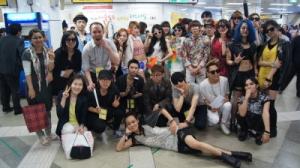 2012서울모드패션페스티발-패션쇼참가자들 (사진제공: 서울모드패션전문학교)