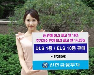신한금융투자(는 5월 25일(금)까지 다양한 기초자산과 수익구조를 갖춘 DLS 1종과 ELS 10종을 판매한다. (사진제공: 신한금융투자)
