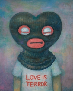 Love is Terror, acrylic on canvas, 91x73cm, 2009