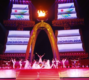 광저우 아시안게임 폐막식 공연 (사진제공: 에스알그룹)