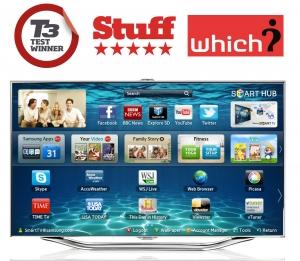 영국 주요 매체인 T3, Stuff로 부터 올림픽 시청을 위한 최고의 TV로 뽑힌 삼성 스마트TV 'ES8000' (사진제공: 삼성전자)